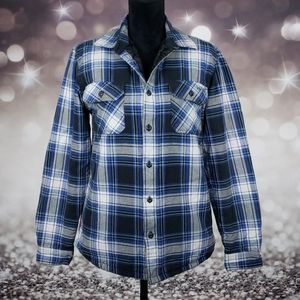 Vans Off The Wall Plaid Button Up Small Jacket